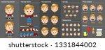cartoon blond boy constructor... | Shutterstock .eps vector #1331844002