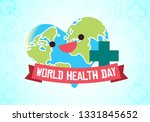 world health day conceptual... | Shutterstock .eps vector #1331845652