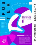 abstract colorful poster design ... | Shutterstock .eps vector #1331851745