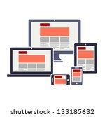 fully responsive web design | Shutterstock .eps vector #133185632