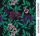 seamless pattern with berries...   Shutterstock .eps vector #1331865965