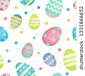easter seamless pattern with... | Shutterstock . vector #1331866652