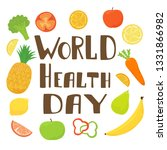 lettering world health day with ... | Shutterstock . vector #1331866982