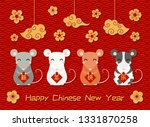 2020 new year greeting card... | Shutterstock .eps vector #1331870258