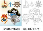 funny pirate cartoon with... | Shutterstock .eps vector #1331871275