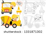 construction vehicle cartoon... | Shutterstock .eps vector #1331871302
