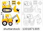 constrcution vehicle cartoon... | Shutterstock .eps vector #1331871305