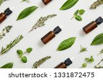 flat lay with bottles on... | Shutterstock . vector #1331872475