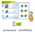 educational game for kids and... | Shutterstock .eps vector #1331895062