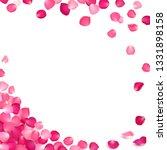 banner of pink rose petals on a ... | Shutterstock . vector #1331898158