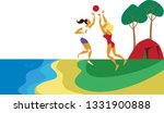 group of people spending time... | Shutterstock .eps vector #1331900888