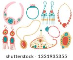 collection of jewelry... | Shutterstock .eps vector #1331935355