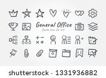 doodle general office icon... | Shutterstock .eps vector #1331936882
