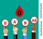 blood compatibility donation....   Shutterstock .eps vector #1331941655
