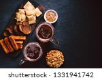 beer and snacks. bar table....   Shutterstock . vector #1331941742