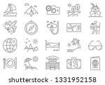 travel icon set. travel related ... | Shutterstock .eps vector #1331952158