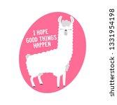 cute lama and inscription   i...   Shutterstock .eps vector #1331954198