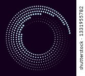 glowing halftone dots circle.... | Shutterstock .eps vector #1331955782