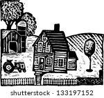 black and white vector... | Shutterstock .eps vector #133197152