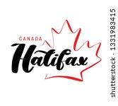 hand drawn lettering halifax... | Shutterstock .eps vector #1331983415