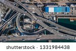 aerial view interchange highway ... | Shutterstock . vector #1331984438