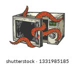 octopus sea animal gets out of...   Shutterstock . vector #1331985185