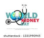 illustration of world kidney...   Shutterstock .eps vector #1331990945