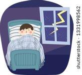 illustration of a kid boy being ... | Shutterstock .eps vector #1331998562