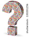 question mark with world flags...   Shutterstock .eps vector #133201256