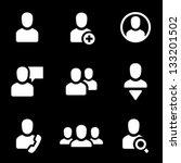 user icons | Shutterstock .eps vector #133201502
