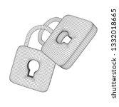 padlock cyber security concept. ... | Shutterstock . vector #1332018665