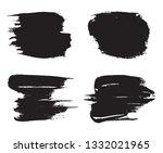 grunge brush strokes | Shutterstock .eps vector #1332021965