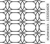 design seamless monochrome grid ... | Shutterstock .eps vector #1332026828