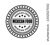 mexican food vintage stamp   | Shutterstock .eps vector #1332027032