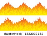 cartoon fire flame frame... | Shutterstock .eps vector #1332033152