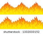 cartoon fire flame frame... | Shutterstock .eps vector #1332033152