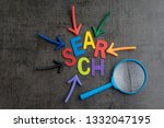 seo  search engine optimization ... | Shutterstock . vector #1332047195