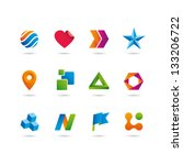 icons set vector | Shutterstock .eps vector #133206722