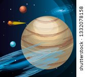 space with jupiter planet... | Shutterstock .eps vector #1332078158