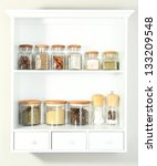 Beautiful White Shelves With...