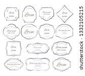 set of unique frames for design ... | Shutterstock .eps vector #1332105215
