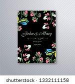 decorative floral wedding... | Shutterstock .eps vector #1332111158