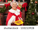 Mrs. Clause Holding A Plate Of...