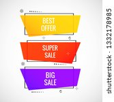 colorful sale banner set design ... | Shutterstock .eps vector #1332178985