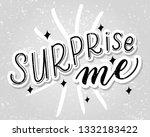 surprise me vector illustration ... | Shutterstock .eps vector #1332183422