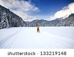 cross country skiing trail near ... | Shutterstock . vector #133219148