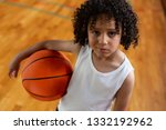 high angle view of a mixed race ... | Shutterstock . vector #1332192962