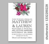romantic pink peony bouquet... | Shutterstock .eps vector #1332200228