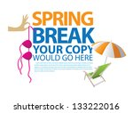 spring break template. jpg | Shutterstock . vector #133222016