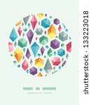 hanging geometric shapes circle ... | Shutterstock .eps vector #133223018